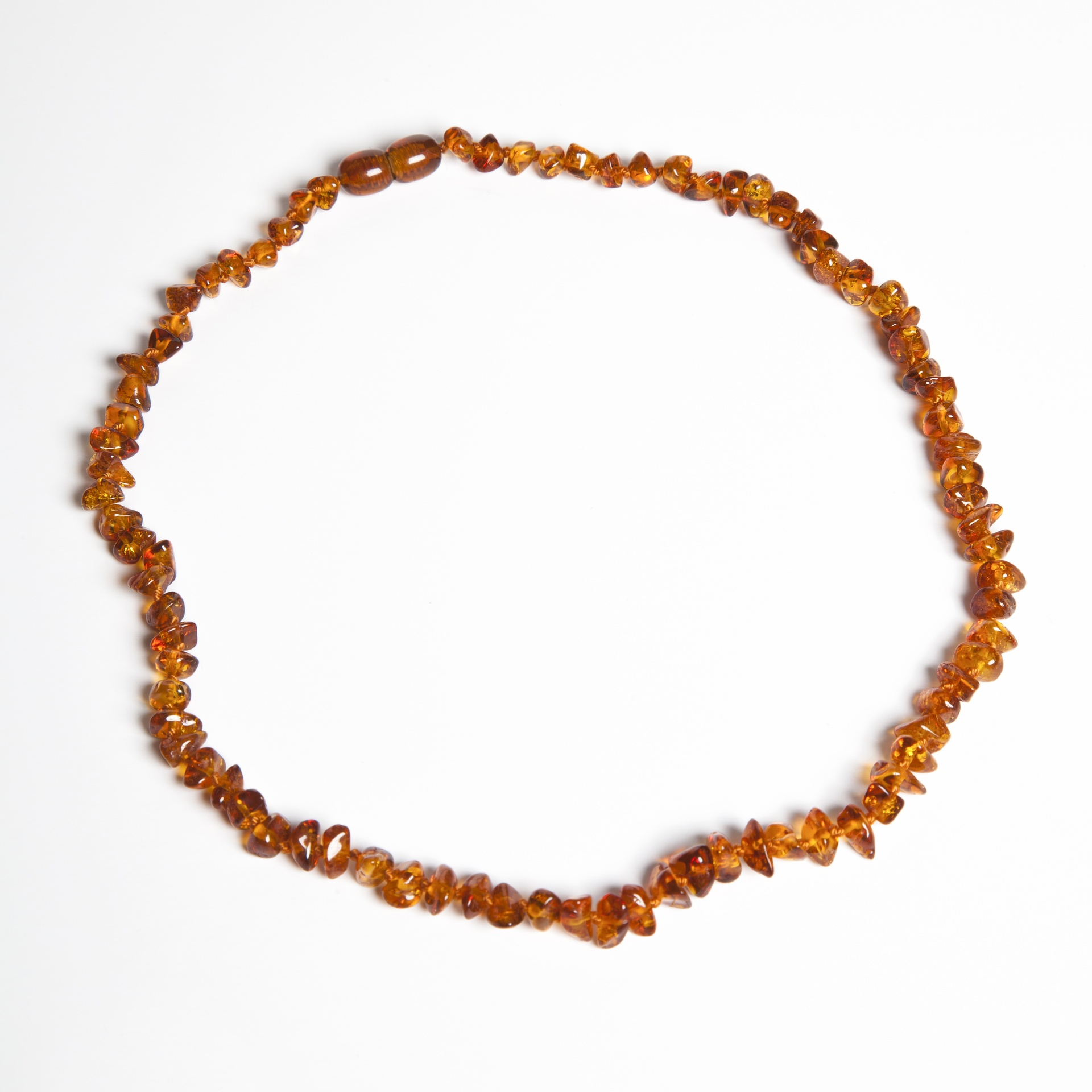 Bärnstens halsband vuxen 45cm